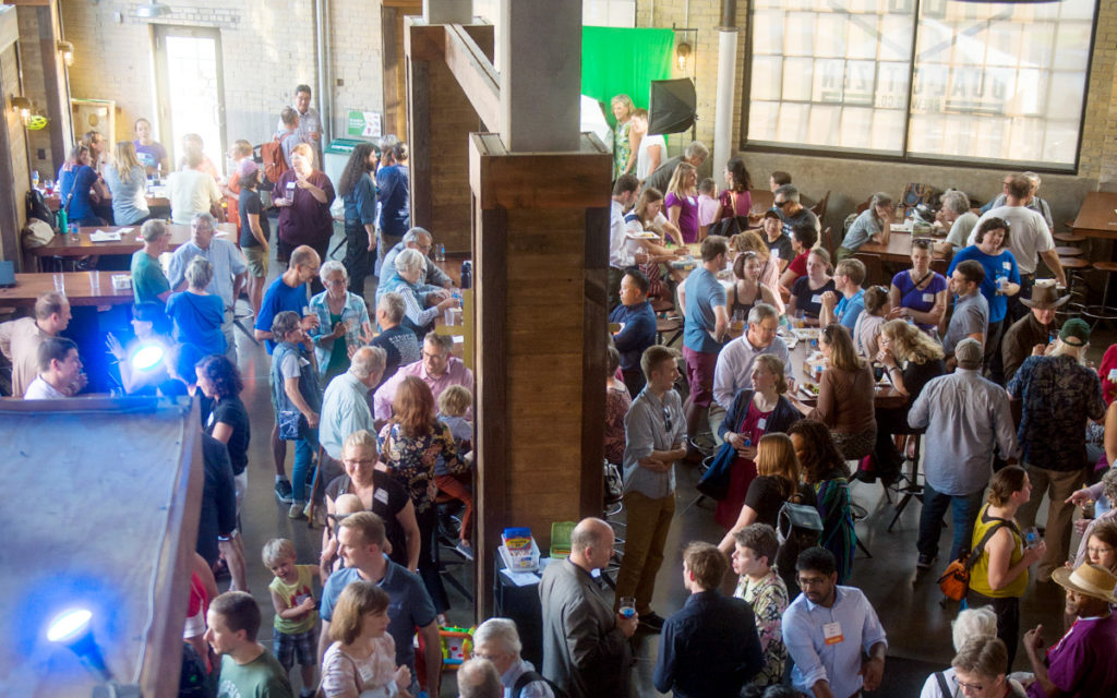 People socializing at Move Minnesota's Launch Party