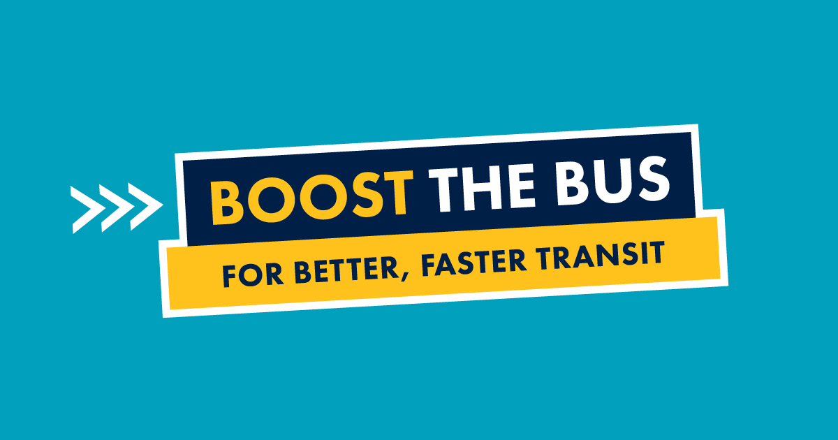 Boost the Bus campaign graphic