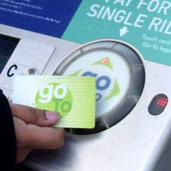 Paying fare with go-to card