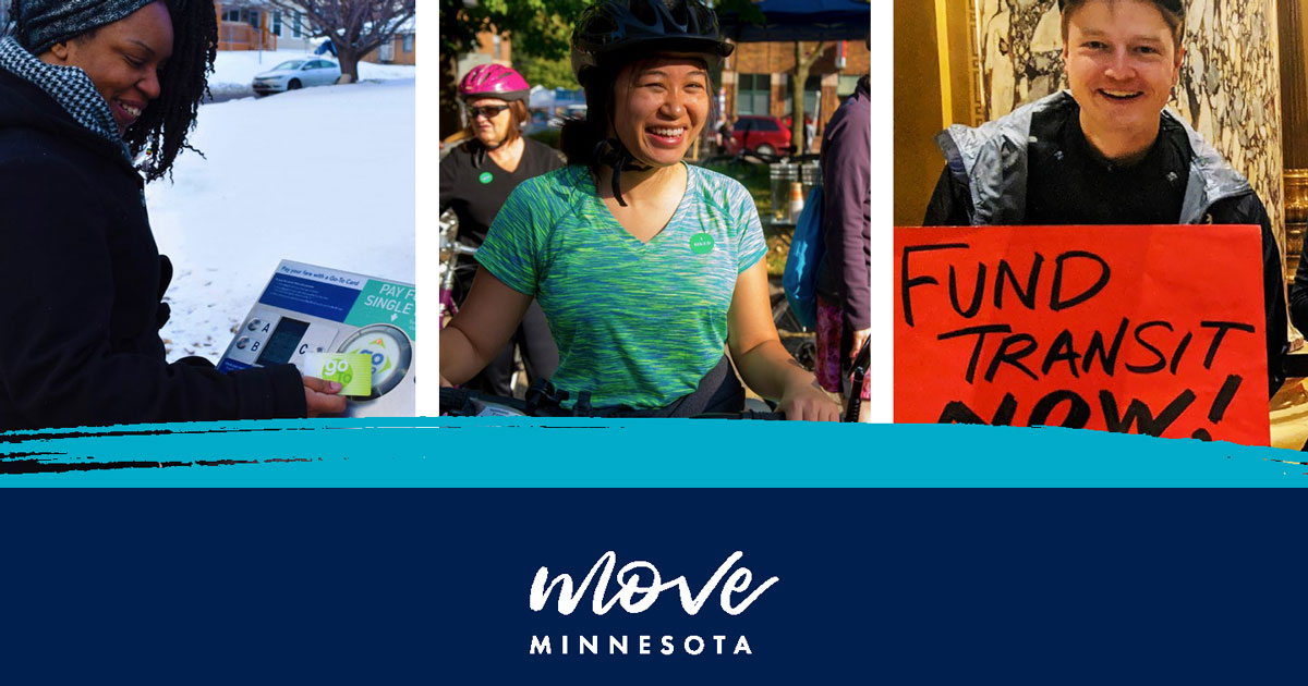 A cropped image of the cover of Move Minnesota's 2019 annual report.
