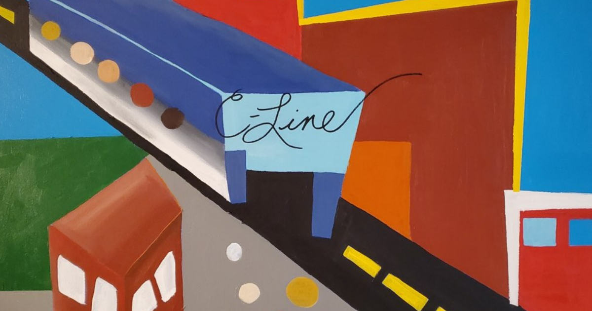 A painting of the C Line by artist seangarrison