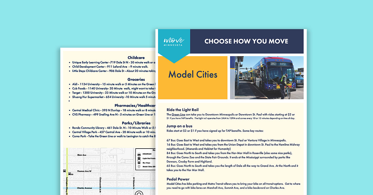 Green Line Choose How You Move Guide Example Graphic
